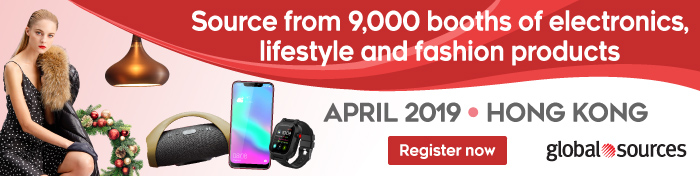 Source from 9,000 booths of electronics, lifestyle and fashion products APRIL 2019, Hong Kong REGISTER NOW